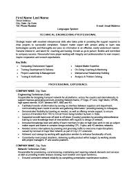 Sample Tech Resumes Hospinoiseworksco Technical Resume Examples Fee