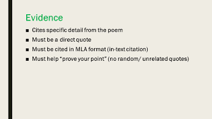 Using Mla To Cite Poetry Plus Microtheme Format Ppt Download