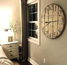 round wall clocks large farmhouse clock co distressed large round wooden wall clock very large