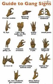 Gang Signs Meaning Funny Witze Zeichnungen Flachwitze
