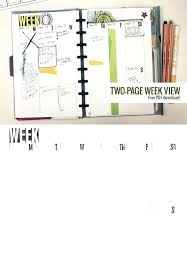 Two Page Week X Planner Template Agenda Free Weekly Monday To Friday ...