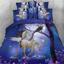 duvet covers 33 plush design ideas horse quilt covers new 3d dreamlike blue purple unicorn bedding