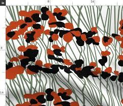 Ida black/red - Spoonflower