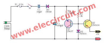 convert ac to dc circuit diagram the wiring diagram transformerless power supply circuit eleccircuit circuit diagram