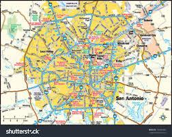 san antonio texas area map stock vector   shutterstock