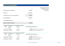 Bank Reconciliation Excel Format Accounting Balance Sheet Template Excel Free Download Pro Balance