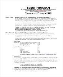 Banquet Program Examples Event Program Sample Christmas Outline Soulective Co