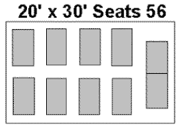 Image result for 20x30 party tent table layout