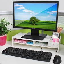tidy office. Home Office Desk Tidy PC Computer Monitor LCD TV Stand Riser Keyboard Shelf Rack A