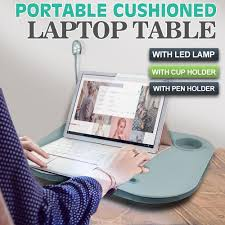 new portable cushioned laptop lap desk table with led lamp light cup holder pad pc parts ing computer parts from from710 32 91 dhgate com