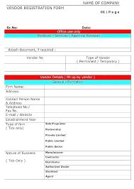 Vendor Application Template Vendor Application Template Business