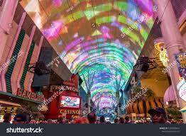 Las Vegas Light Show 2018 Light Show On Biggest Screen World Stock Photo Edit Now