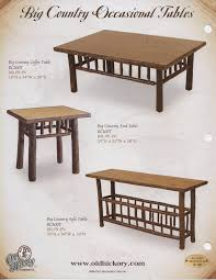 Country Coffee Tables And End Tables Old Hickory Big Country Coffee Table End Table Sofa Table