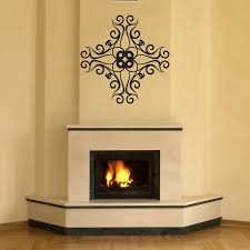 wall decal fireplace home shapes tribal cross wall decal