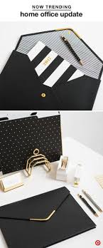 work at home like a pro with our collection by sugar paper their sophisticated black white and gold options folders folios card holders pens collect idea fashionable office design k54 fashionable