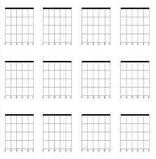 Barre Chords Printable Blank Guitar Chord Chart Pdf – Originated.info