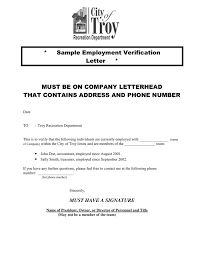Employment Verification Letter Template Word Employment Verification Letter In Word And Pdf Formats