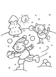 Kleurplaat Sneeuw Tijdschrift Rompompom Illustratie Door