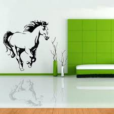 horse canvas wall art decor animals white posters and prints landscape