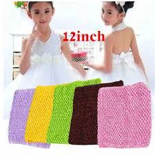 Retail <b>1PC</b> Kids 12 Inch Tutu <b>Crochet Tube Top</b> Girl Stretch Colored ...