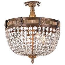 semi flush crystal chandelier cl 4 light antique bronze finish crystal semi flush mount french empire