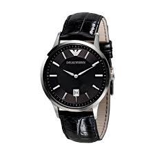 women s and men s emporio armani watches rox emporio armani black dial strap watch ar2411