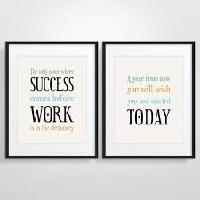 inspirational office decor. Wonderful Decor Office Decor Typography Posters Inspirational Quote Art Motivational  Print  Set Of 2 Intended F