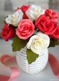 Rose Flower With Paper Handmade Crepe Paper Rose Buds Tutorial