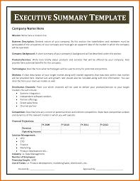 Exec Summary Template Executive Summary Format Modern Bio Resumes 5