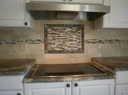 Image Of: Travertine With Inlaid Rectangular Mosaic Tiles At Destefano In  Used Kitchen Backsplash Ideas