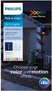 Philips String Lights Philips 25ct C9 Faceted Pick A Color String Lights With Remote Multi Colored