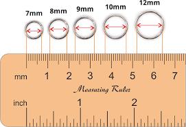 Mm Earring Chart Measuring Earrings Diameter Size
