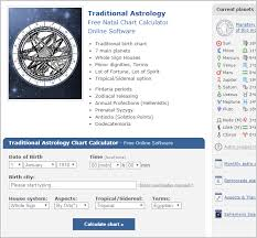 New Astrology Website Astro Seek Com With Traditional Option