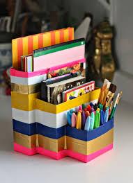 duck tape organizers desk craft diy 640 2