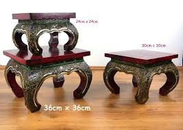 small asian opium table coffee table glass mosaic