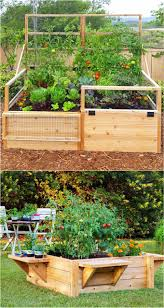 add fencing or even a door to your raised beds to keep out deer and rabbits you can purchase kits or make your own version you can also add benches to a