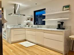 kitchen and stainless steel floating shelves