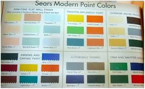 Sears Paint Color Chart Easy Living Paint Paintingcanvas Info