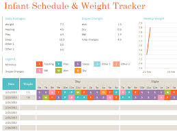 Infant Tracker Daily Infant Schedule And Weight Tracker Printable Medical