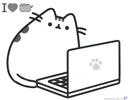 Collection Of Solutions Pusheen Coloring Pages Unicorn Book The Cat