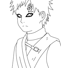 Gaara From Naruto Coloring Page Free Printable Coloring Pages