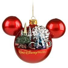 Disney Christmas Ornament - Mickey Mouse Ears Ball - 4 Parks One World