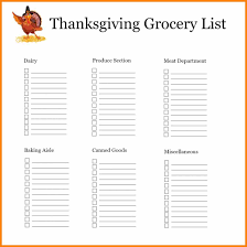 Thanksgiving Grocery List Template 8 Grocery List Organizer Plastic Mouldings