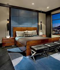 contemporary bedroom men. Mens Bedroom Set Design, Luxurious Contemporary For Men With Wooden Bed And Blue
