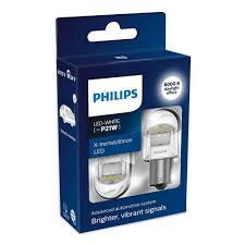 <b>Лампа PHILIPS P21W</b> 12V/24V 2,7W (BA15s) LED White X ...