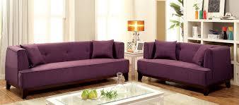 Purple Living Room Furniture Amazoncom Furniture Of America Elsa Neo Retro Sofa Purple