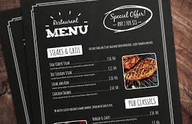 Chalkboard Menu Templates 32 Free Simple Menu Templates For Restaurants Cafes And