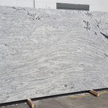white fossil granite slab