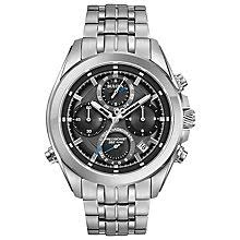 men s bulova watches h samuel bulova precisionist men s stainless steel bracelet watch product number 5293227