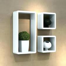 square wall shelf box white shelves 3 pieces stained wooden decorative nz cube she